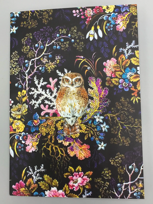 Little Owl - Diana wilson Hand Glittered Vintage Style Card