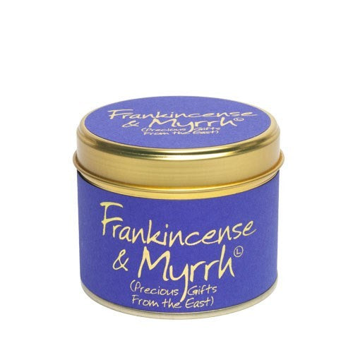 Frankincense & Myrrh Lily Flame Tinned Fragrance Candle