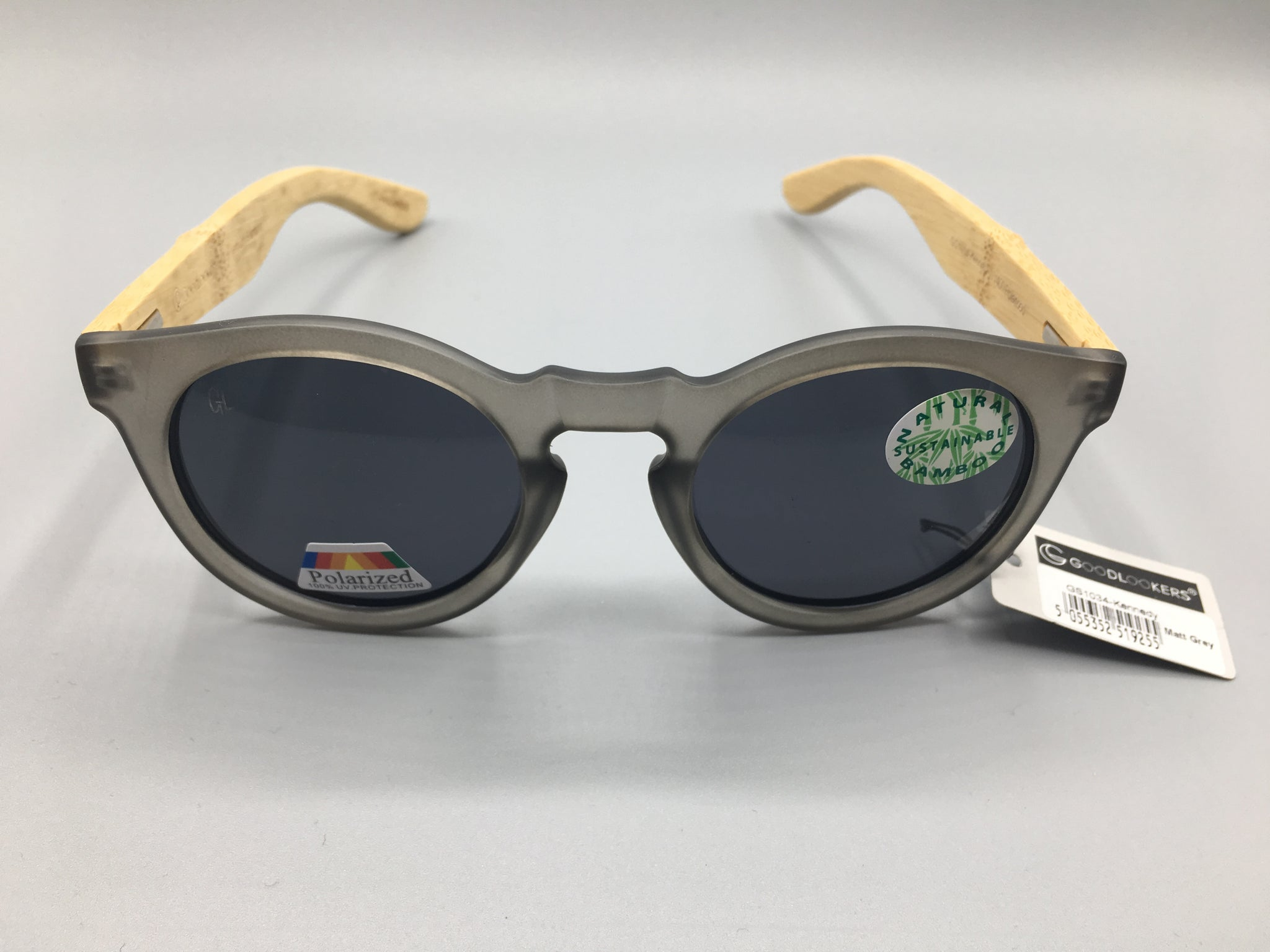 Grey Kennedy -  Unisex Bamboo Sunglasses