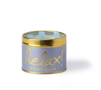Relax Lily Flame Tinned Fragrance Candle