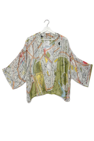 One Hundred Stars London Map Kimono