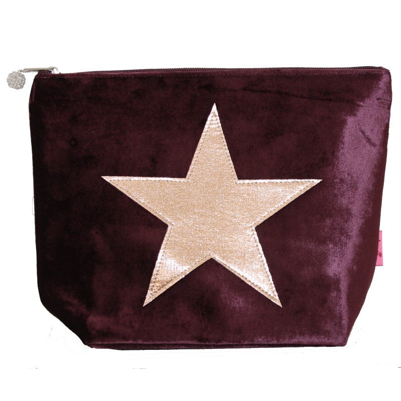 Star Velvet Large Cosmetic Purse, 4 colours available