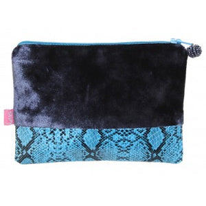 Velvet and Faux Snakeskin Mini Purse - Available in 5 Colours