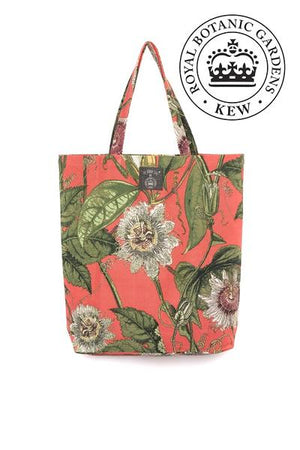 One Hundred Stars Canvas Bag Passion Flower Coral