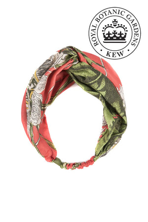 One Hundred Stars & KEW RBG Coral Passion flower Headband