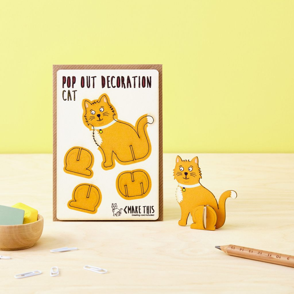 Ginger Cat Pop Out Card