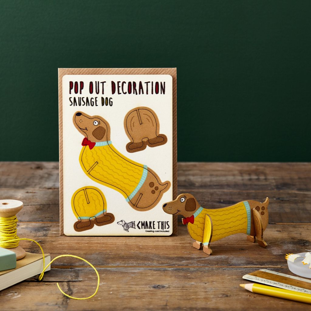 Sausage Dog Pop Out Card