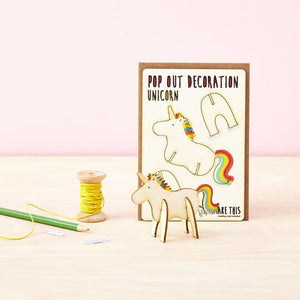 Unicorn Pop Out Card