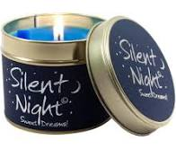 Silent Night Lily Flame Tinned Fragrance Christmas Candle