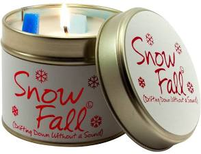 Snow fall Lily Flame Tinned Fragrance Christmas Candle