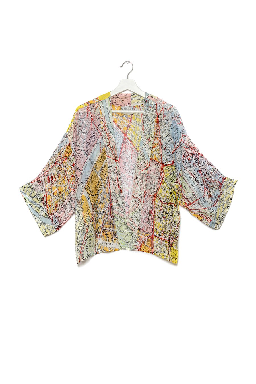One Hundred Stars Valerie Paris Map Kimono
