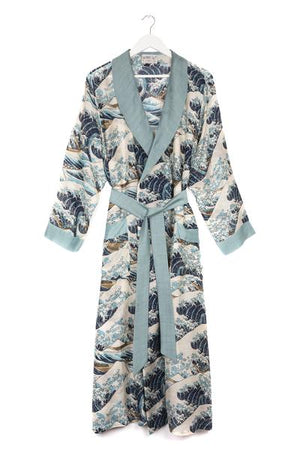 Wave Blue Dressing Gown