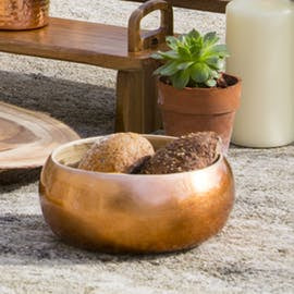 Bamboo Bowls with Copper Finish available in 2 sizes