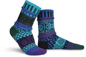 Blue Spruce Crew Socks by Solmate Socks