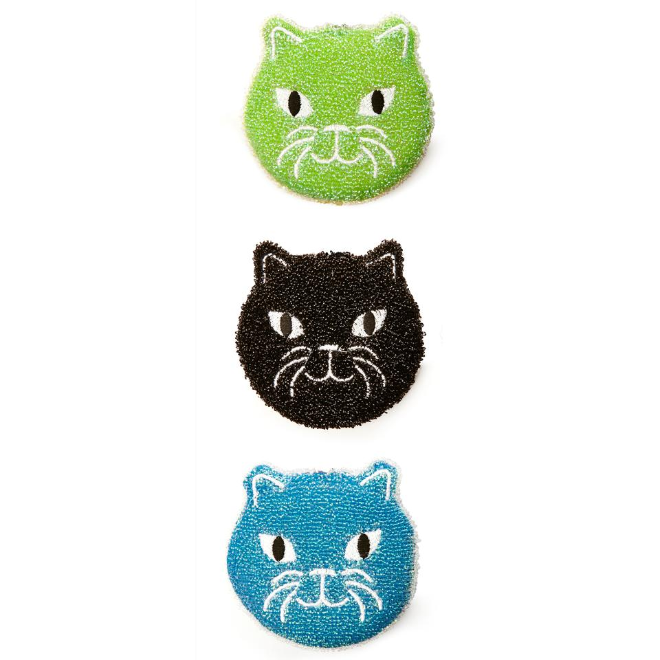 Cat Sponges Pack of 3    Kitty's in your kitchen!
