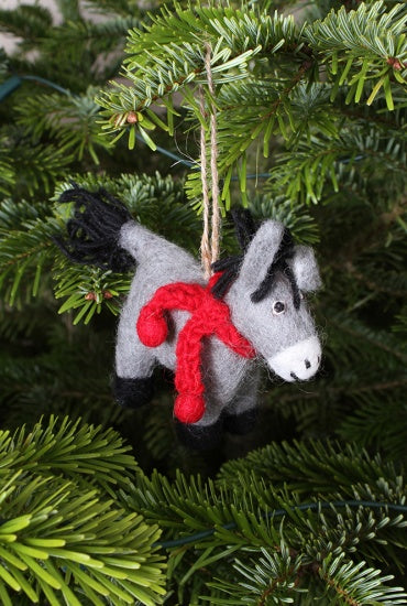 Dennis the Donkey Hand felted Decoration