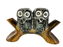 Wooden Two Owls