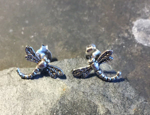 Dragon Fly Stud Earring .925 Silver