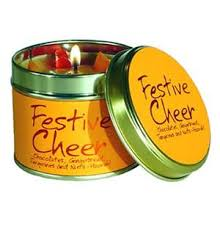 Festive Cheer Lily Flame Tinned Fragrance Christmas Candle