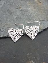Heart Drop Earring .925 Silver