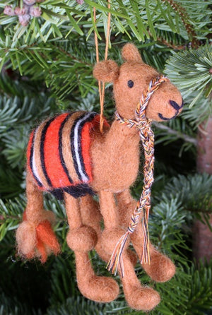 Humphrey the Camel Handfelted Decoration