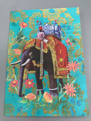 Elephant - Diana wilson Hand Glittered Vintage Style Card