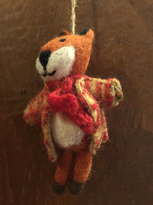 Fox Hand felted  Decoration