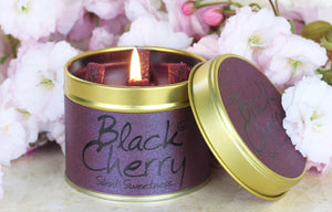 Black Cherry Lily Flame Tinned Fragrance Candle