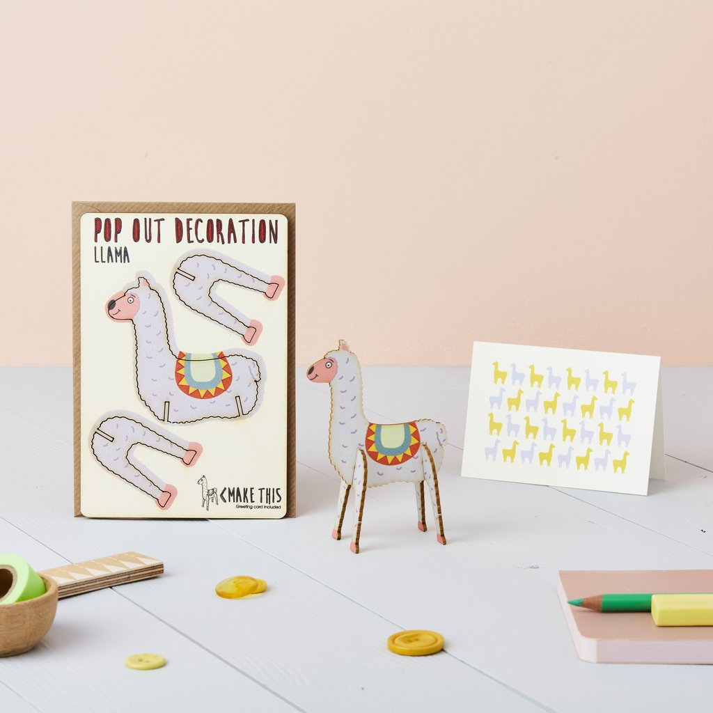 Llama Pop Out Card