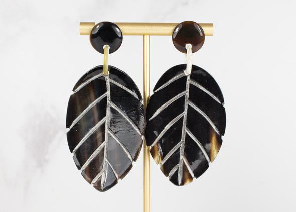 Dark Leaf Earrings