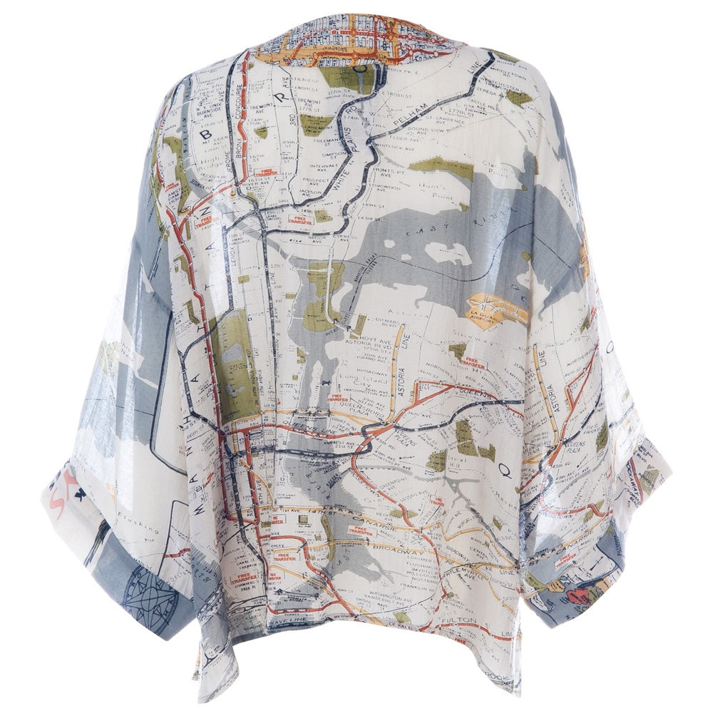 One Hundred New York City Map Kimono