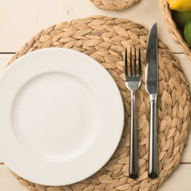 Water Hyacinth Pack Of 4 Round Placemats