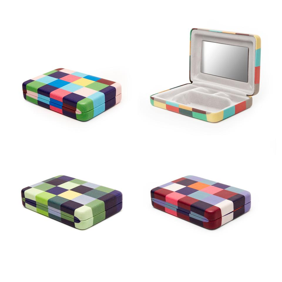 Portable Plaid Travel Jewelry Case
