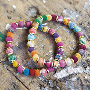 Fabric Bead Jewellery Recycled Sari Bracelet