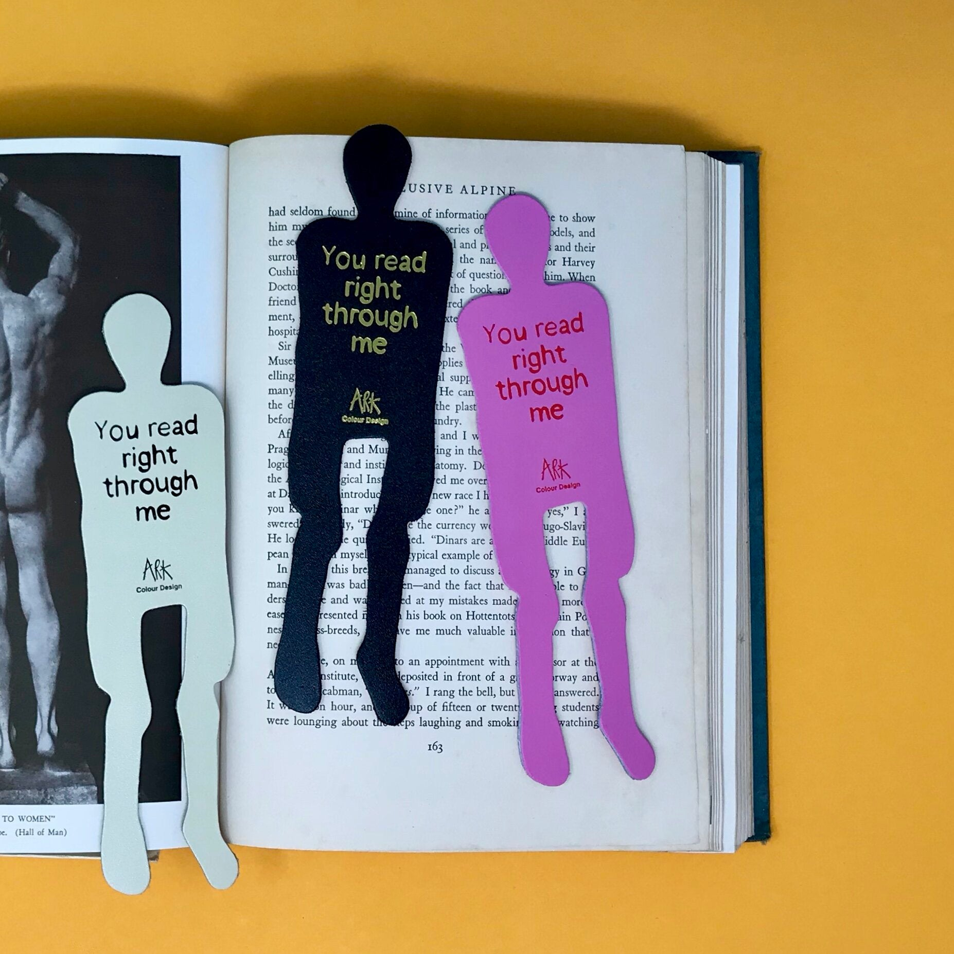 Skeleton Bookmark - You read right through me
