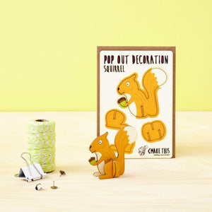Squirrel Pop Out Card