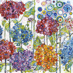 Summer Hydrangeas - Sally Rich Cards Greeting Card