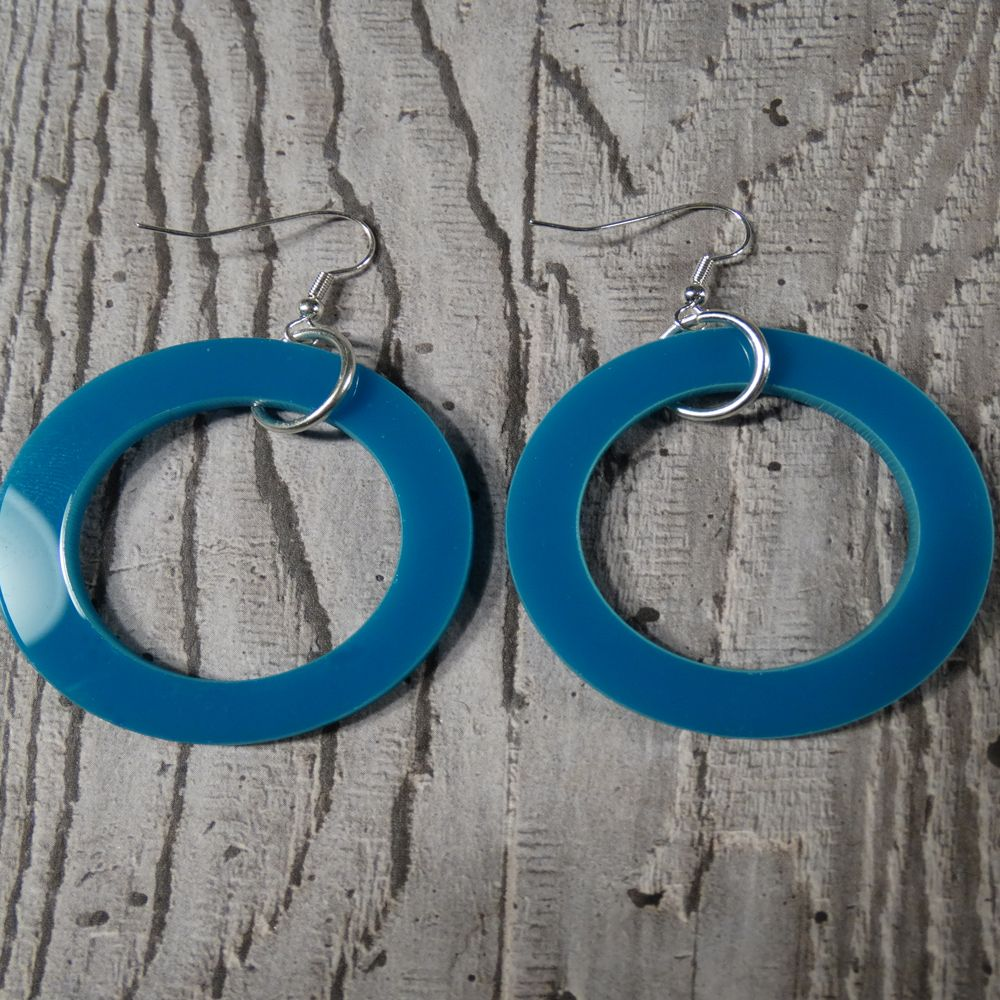 Perspex Hoop Earrings