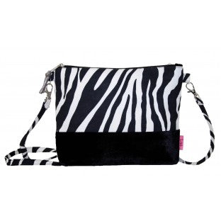 Velvet Banded Zebra Mini Bag