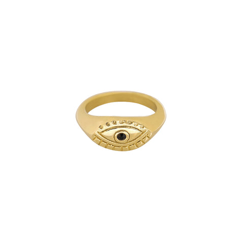 Curious eye ring goud