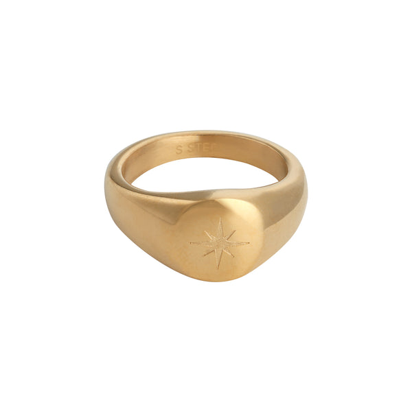 Bright star ring goud