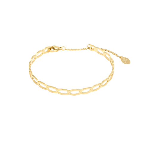 Chained armband goud