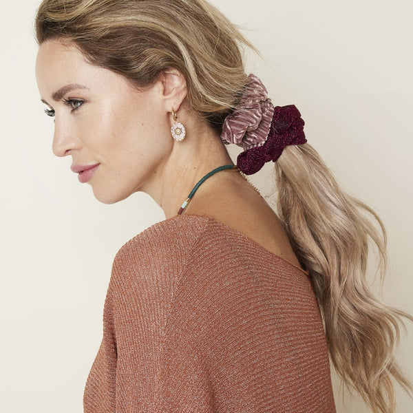 Disco scrunchie roze
