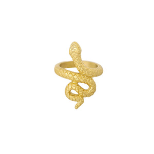 Flawless snake ring goud
