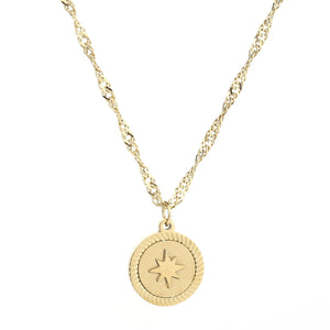 Morning star ketting goud