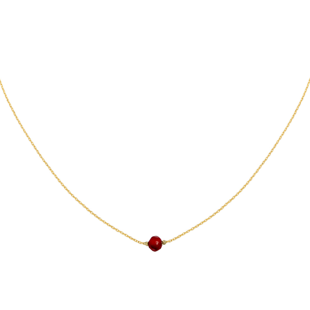 Little one ketting goud & rood