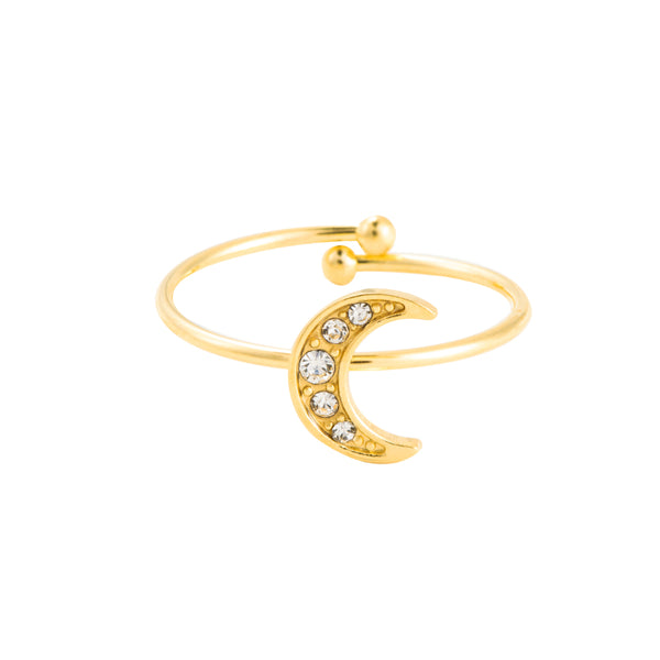 Shining moon ring goud