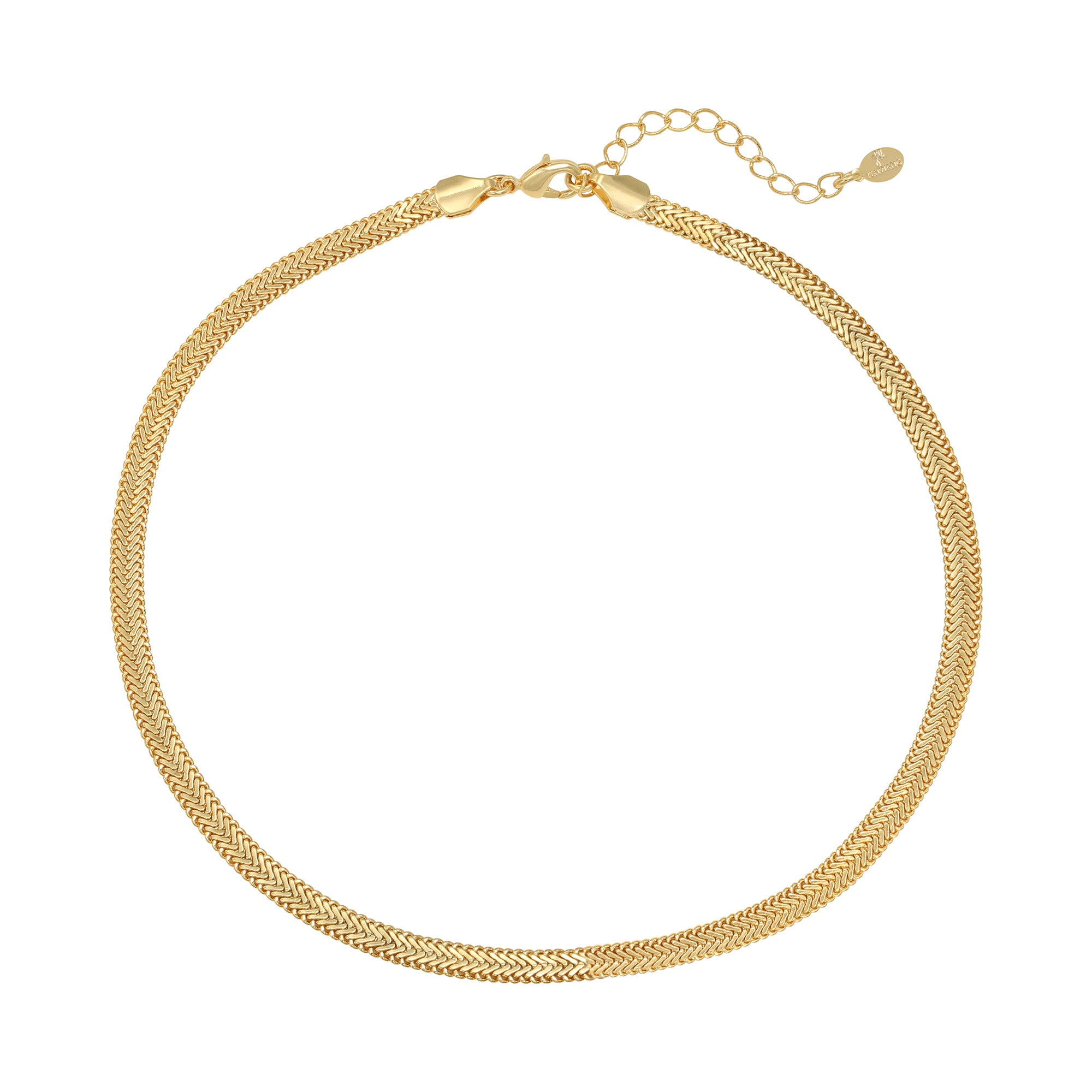 Snaky chain ketting goud