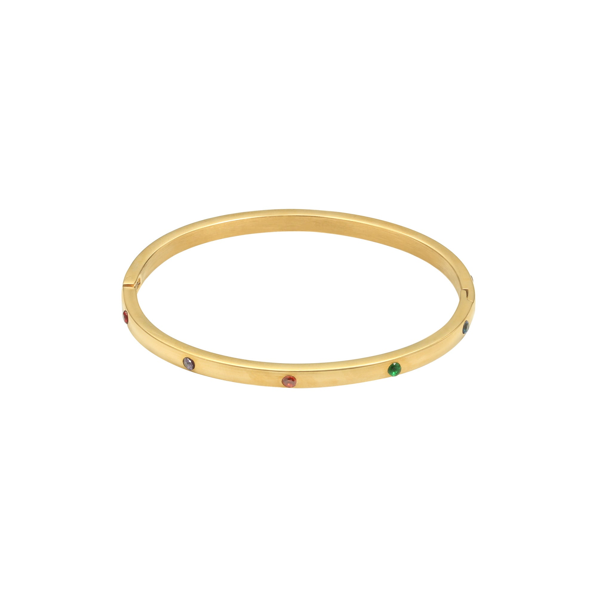 Collorfull bangle armband goud