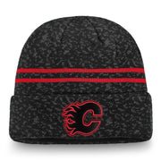Flames Fan Weave Cuff Beanie Knit